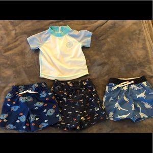 Infant bathing suits